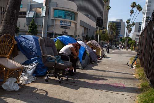 The number of encampments in Koreatown has grown in recent years.