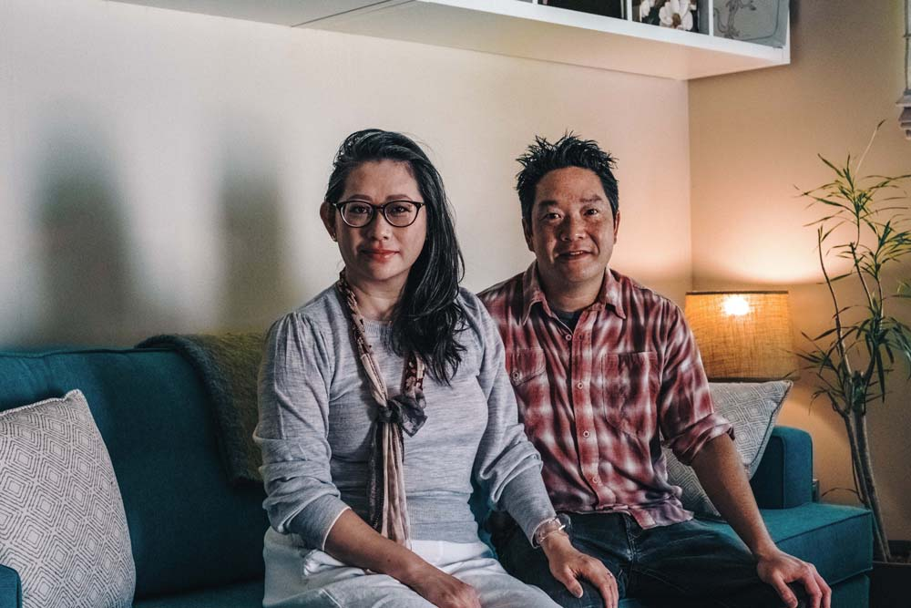 Kim Luu-Ng and Bryant Ng, co-owners of Santa Monica restaurant Cassia, pose in their Alhambra home.