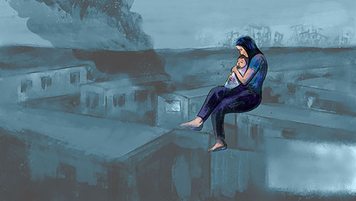 Marissa Rodrriguez grieving the loss of Baby Jenica illustration